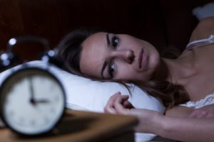 woman sleeping problems